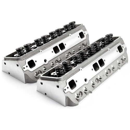 Chevy 205cc 64cc Angle HydrFT Complete Cylinder Heads (Chevy 350 Aluminum Heads compare prices)