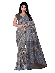 LOVELY LOOK Grey Printed Saree