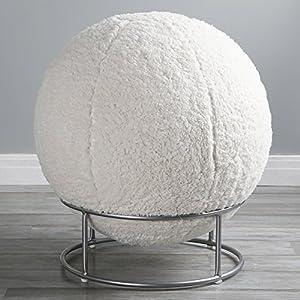 Amazon Com Mongolian Lamb Faux Fur Yoga Ball Chair Home