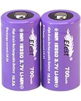 Efest IMR 18350 / 700mAh MAX10.5A 高出力 リチウムマンガンバッテリー 2本セット