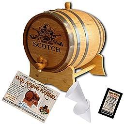 Engraved American Oak Aging Barrel - Design 161: Private Reserve Barrel Aged Scotch (10 Liter)