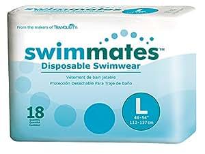 Amazon.com: Swimmates Disposable Adult Swim Diapers, Large