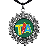 GiftJewelryShop Ancient Style Silver Plate Tia With Chili Pepper Christmas Wreath Charm Pendant Necklace