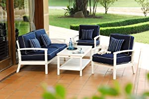 Unique One more option for shopping pc Warwick Outdoor Patio Sofa Seating Set Furniture By Azzurro Living This website every helps search the product you want