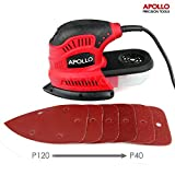 517GlT7K7GL. SL160  - BEST BUY #1 Apollo 180W Palm Detail Mouse Sander Power Tool With Dust Collector & 6 Piece Mixed Velcro Backed Sand Paper Kit
