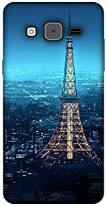 The Racoon Lean printed designer hard back mobile phone case cover for Samsung Galaxy On5. (eiffel tow)