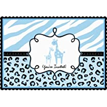 Sweet Safari Boy Invitations (20 per package)
