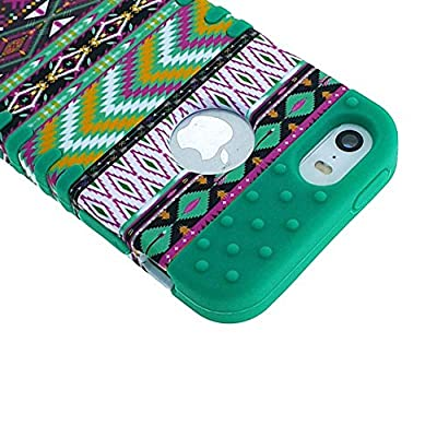 iPhone 5S Case, iPhone 5 Case Case Loca Hybrid Impact Shockproof Cover Hard Armor Shell and Soft Silicone Skin Layer With Stylus Pen (Tribal Dani) from Case Loca