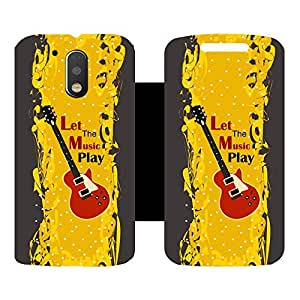 Phone Candy Designer Flip Cover with hi-res printed Vinyl sticker wrap-around for Motorola Moto G4 Plus