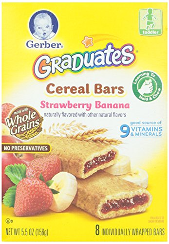 Gerber Graduates Banana Strawberry Cereal Bar,  5.5 oz - 1