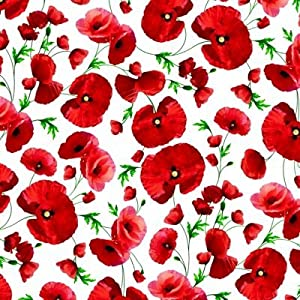 THE TABLECLOTH SHOP Poppy Vinyl Wipe Clean Tablecloth 1.4m Round