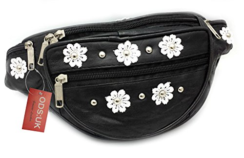 Dasiy Flower Power and Studs Leather Bum Bag by ODS:UK