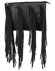 Amatra Synthetic Sling Bag (Black)