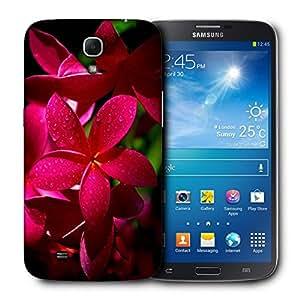 Snoogg Red Flower Designer Protective Back Case Cover For Samsung Galaxy Mega 6.3