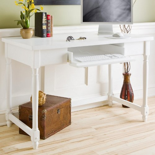 Buy Low Price Comfortable Stylish White Harvest Computer / Writing Desk (B002HBEQR8)