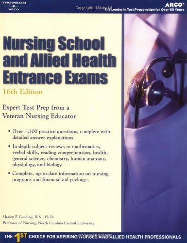 Nursing School And Allied Health Entrance Exams (Academic Test Preparation Series)