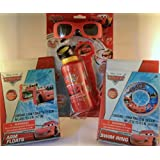Disney Cars Summer Fun Pack: Cars Bubble Wand Set With 3D Sunglasses, One Swim Ring, Two Arm Floats