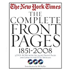 The New York Times, The Complete Front Pages: 1851-2008