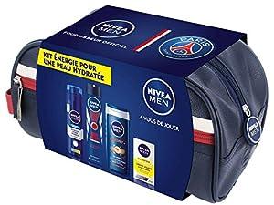 Nivea Men PSG Coffret Trousse Energie pour une Peau Hydratée - 4 Produits