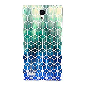 Jugaaduu Blue Hexagon Pattern Back Cover Case For Redmi Note