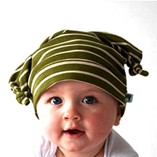 Baby Hat, Yasalu Toddler Long Ears Horn Knotted Beanie Baby Hat (army green) (Make Maleficent Horns)