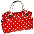 Polkadot Oilcloth Bag Twin Handled Shoulder Bag / Handbag / Tote