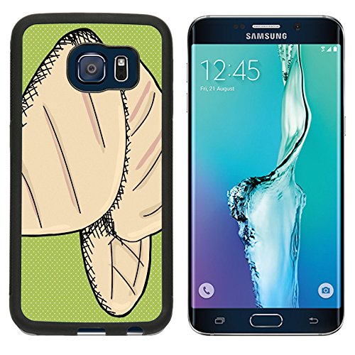 MSD Premium Samsung Galaxy S6 Edge Aluminum Backplate Bumper Snap Case IMAGE ID: 27905980 Sketch of skinless pieces of chicken on green background (Skinless Meat compare prices)