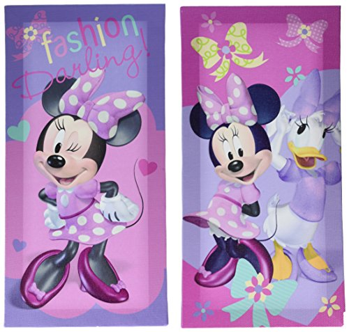 Disney Minnie Mouse Canvas Wall Art (2 Pack), 7 x 14 (Minnie Mouse Pictures compare prices)