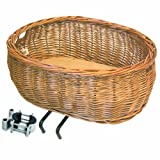 Basil Wicker Front Dog Basket w/ XLarge Bracket Mounting to Head Tube (30-50mm à Tubes)