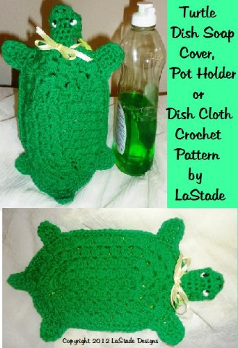 Turtle Dish Soap Cover, Hot Pad or Dish Cloth Crochet Pattern