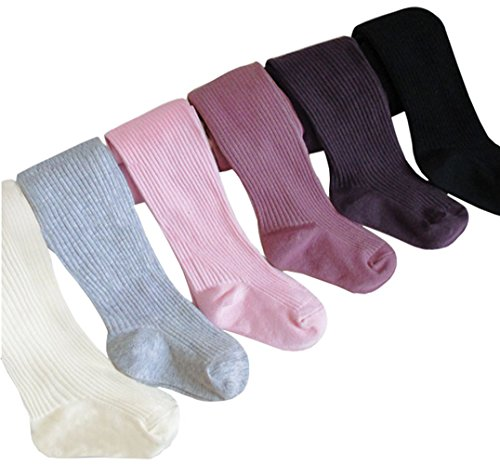 Taiycyxgan Baby Infant Girls Winter Tights 6-Pack Stripe Leggings Stocking Pants 0-3T 6-12 months
