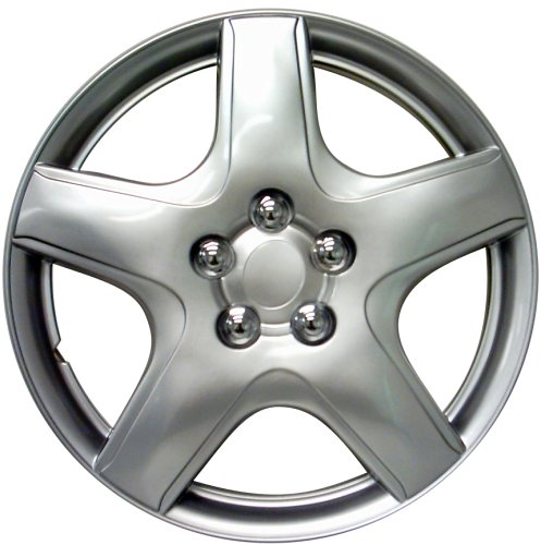 "Drive Accessories KT-987-15S/L, Toyota Matrix, 15"" Silver Lacquer Replica Wheel Cover, Pack of 4"