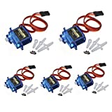 J-Deal® 5x Pcs SG90 Micro Servo Motor 9G RC Robot Helicopter Airplane Boat Controls