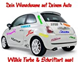 Autoaufkleber Wunschname