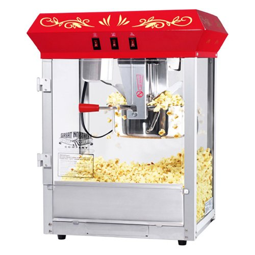 Great Northern Popcorn Great Northern Popcorn Gnp-850 All Star Classic Style Popcorn Top, Red