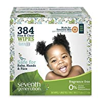 Seventh Generation Free and Clear Baby Wipes with Flip Top Dispenser by Seventh Generation