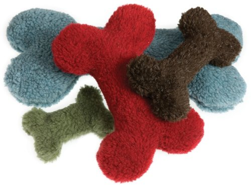 West Paw Design Jumbo Bone Squeak Toy for Dogs, Cardinal