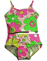 Girlfriends by Anita G Designer Clothes. - Little Girls 2 Piece Tankini Swimsuit, Pink, Fuschia, Green 11421-2T
