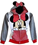 Minnie Mouse Girls Grey Zip Up Hoodie