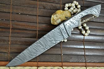 Outstanding Value - Handmade Damascus Hunting Knife - Full Tang - Work of Art