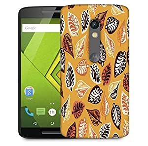 Snoogg Abstract Leaves Yellow Designer Protective Phone Back Case Cover For Motorola Moto X Play