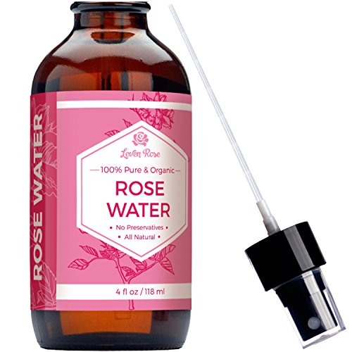 Rose Water Toner - 100% Organic Natural Moroccan Rosewater (Chemical Free) - 4 oz (Rose Flower Water compare prices)