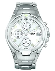 Timex E Class Chrono Chronograph White Dial Men's Watch T27881