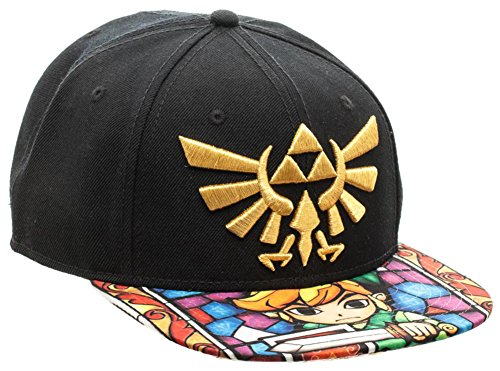 Zelda- Stained Glass Snapback Hat