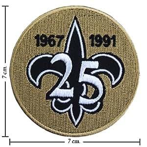 new orleans saints 25 anniversary logo ecusson brod emblem patche patches cuisine. Black Bedroom Furniture Sets. Home Design Ideas