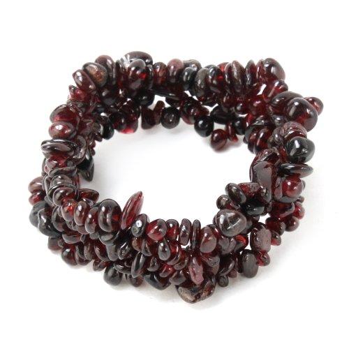 Yesurprise Garnet Ladies Bangle Bracelet Unisex Gift