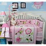 13 Piece Ladybug Party Baby Nursery Crib Bedding Set