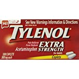 Tylenol Extra Strength Acetaminophen, 500 mg Caplets, 100 Count