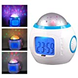 Romantic Night Light Musical Star Sky Projector Alarm Clock Calendar NEW