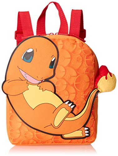 FAB Starpoint Boys' 10 Inch Mini Charmander Backpack with Extension Tail, Orange, One Size